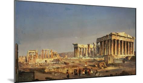 The Parthenon, 1863-Ippolito Caffi-Mounted Giclee Print