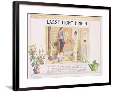 "Frontispiece to ""Lasst Licht Hinin"",(""Let in More Light"") 1909-Carl Larsson-Framed Art Print"