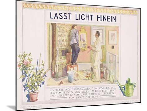 """Frontispiece to """"Lasst Licht Hinin"""",(""""Let in More Light"""") 1909-Carl Larsson-Mounted Giclee Print"""