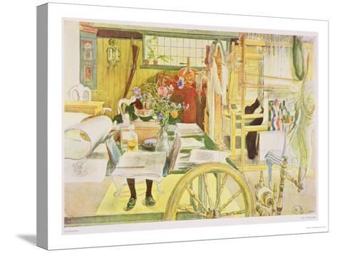 "The Workroom, Published in ""Lasst Licht Hinin,"" (""Let in More Light"") 1909-Carl Larsson-Stretched Canvas Print"