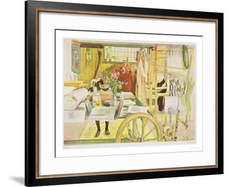 "The Workroom, Published in ""Lasst Licht Hinin,"" (""Let in More Light"") 1909-Carl Larsson-Framed Art Print"