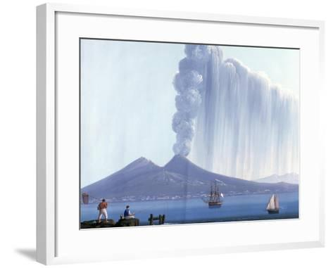 Naples: Vesuvius Erupting, 26th October 1822--Framed Art Print