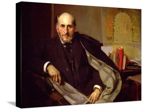 Portrait of Santiago Ramon Y Cajal, Spanish Physician and Histologist, 1906-Joaqu?n Sorolla y Bastida-Stretched Canvas Print