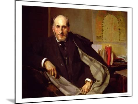 Portrait of Santiago Ramon Y Cajal, Spanish Physician and Histologist, 1906-Joaqu?n Sorolla y Bastida-Mounted Giclee Print