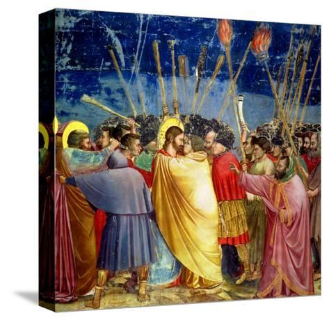 The Betrayal of Christ, circa 1305-Giotto di Bondone-Stretched Canvas Print