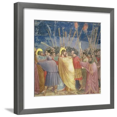 The Betrayal of Christ, circa 1305-Giotto di Bondone-Framed Art Print