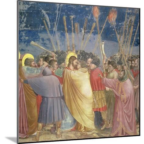 The Betrayal of Christ, circa 1305-Giotto di Bondone-Mounted Giclee Print