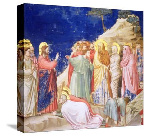 The Raising of Lazarus, circa 1305 (Pre-Restoration)-Giotto di Bondone-Stretched Canvas Print