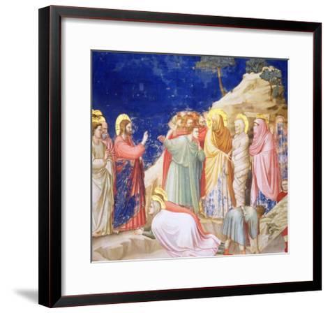The Raising of Lazarus, circa 1305 (Pre-Restoration)-Giotto di Bondone-Framed Art Print