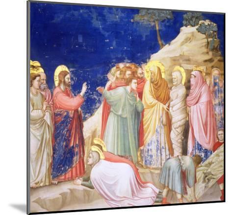The Raising of Lazarus, circa 1305 (Pre-Restoration)-Giotto di Bondone-Mounted Giclee Print