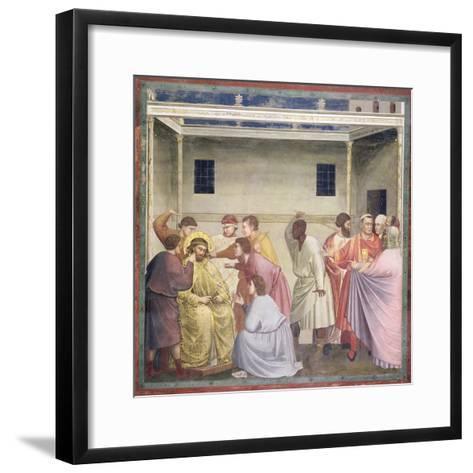 The Mocking of Christ, circa 1305-Giotto di Bondone-Framed Art Print