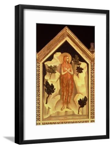St. Mary Magdalene, from the St. Reparata Polyptych (Detail)-Giotto di Bondone-Framed Art Print