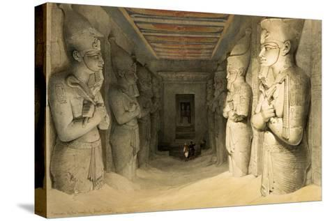 "Interior of the Temple of Abu Simbel, from ""Egypt and Nubia,"" Vol.1-David Roberts-Stretched Canvas Print"