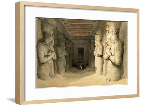 "Interior of the Temple of Abu Simbel, from ""Egypt and Nubia,"" Vol.1-David Roberts-Framed Art Print"