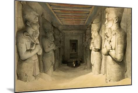 "Interior of the Temple of Abu Simbel, from ""Egypt and Nubia,"" Vol.1-David Roberts-Mounted Giclee Print"