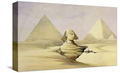 "The Great Sphinx and the Pyramids of Giza, from ""Egypt and Nubia,"" Vol.1-David Roberts-Stretched Canvas Print"