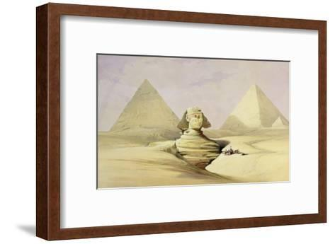 "The Great Sphinx and the Pyramids of Giza, from ""Egypt and Nubia,"" Vol.1-David Roberts-Framed Art Print"