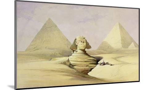 "The Great Sphinx and the Pyramids of Giza, from ""Egypt and Nubia,"" Vol.1-David Roberts-Mounted Giclee Print"