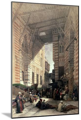 "Bazaar of the Silk Merchants, Cairo, from ""Egypt and Nubia,"" Vol.3-David Roberts-Mounted Giclee Print"