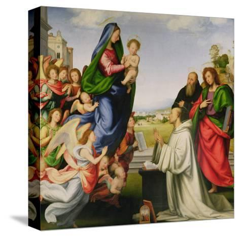 Apparition of the Virgin to St. Bernard-Fra Bartolommeo-Stretched Canvas Print