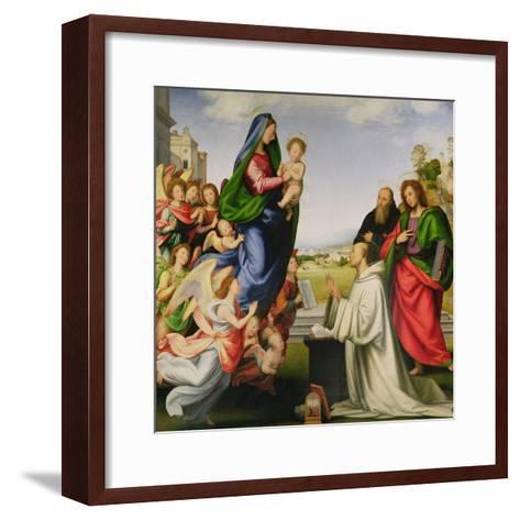 Apparition of the Virgin to St. Bernard-Fra Bartolommeo-Framed Art Print