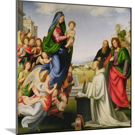 Apparition of the Virgin to St. Bernard-Fra Bartolommeo-Mounted Giclee Print