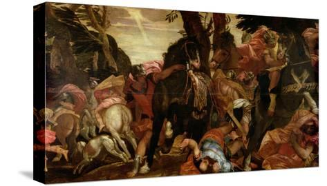 The Conversion of Saul, P.1580-Paolo Veronese-Stretched Canvas Print