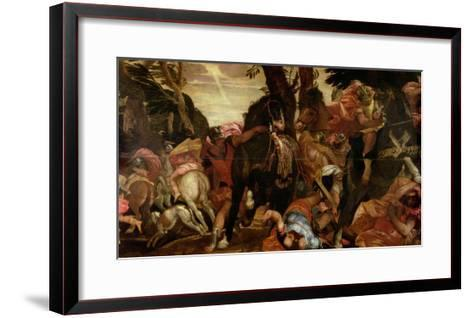 The Conversion of Saul, P.1580-Paolo Veronese-Framed Art Print