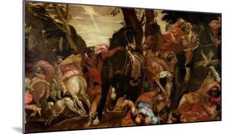 The Conversion of Saul, P.1580-Paolo Veronese-Mounted Giclee Print
