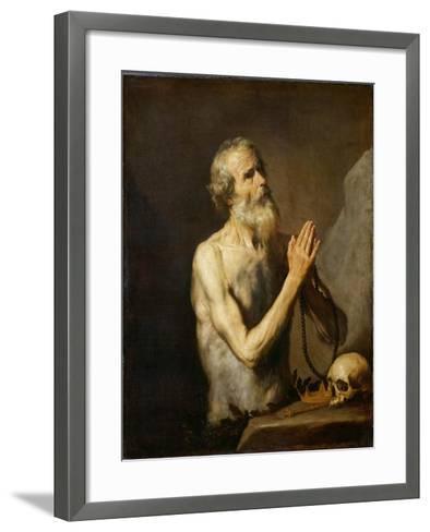 St. Onuphrius, 1637-Jusepe de Ribera-Framed Art Print