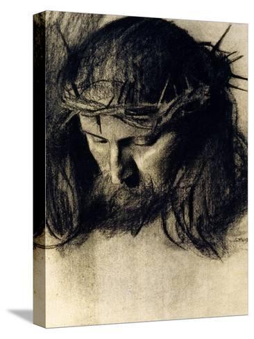 Head of Christ, circa 1890-Franz von Stuck-Stretched Canvas Print