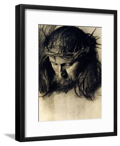 Head of Christ, circa 1890-Franz von Stuck-Framed Art Print