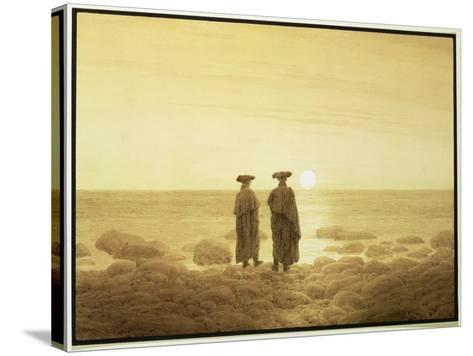 Moonrise, 1835-7-Caspar David Friedrich-Stretched Canvas Print