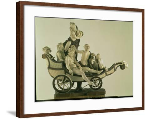 Chariot with Silenus, Ivory Sculpture, Munich, Second Quarter of the 18th Century-Simon Troger-Framed Art Print