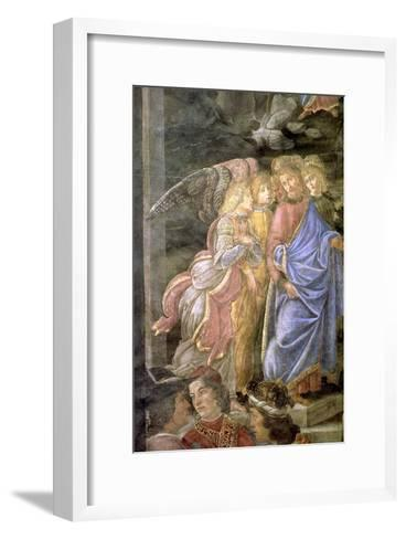 The Purification of the Leper and the Temptation of Christ-Sandro Botticelli-Framed Art Print