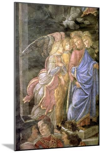 The Purification of the Leper and the Temptation of Christ-Sandro Botticelli-Mounted Giclee Print