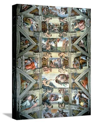Sistine Chapel Ceiling and Lunettes, 1508-12-Michelangelo Buonarroti-Stretched Canvas Print