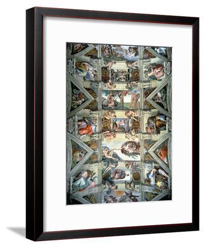 Sistine Chapel Ceiling and Lunettes, 1508-12-Michelangelo Buonarroti-Framed Art Print