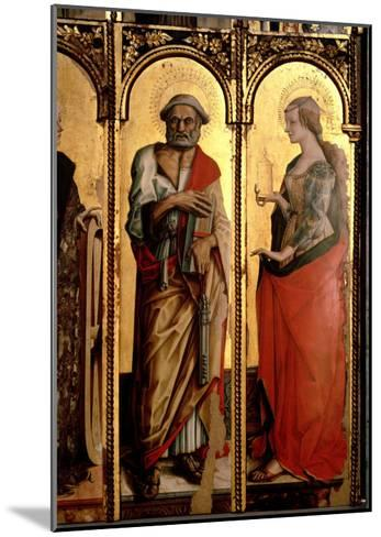 St. Peter and St. Mary Magdalene, Detail from the Santa Lucia Triptych-Carlo Crivelli-Mounted Giclee Print