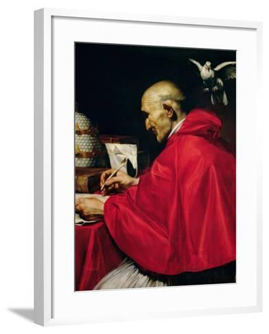 Pope Gregory the Great-Carlo Saraceni-Framed Art Print
