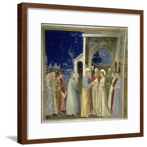 The Marriage of the Virgin, circa 1305-Giotto di Bondone-Framed Art Print