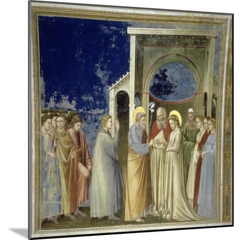 The Marriage of the Virgin, circa 1305-Giotto di Bondone-Mounted Giclee Print