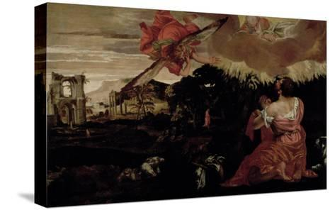 Moses and the Burning Bush-Paolo Veronese-Stretched Canvas Print