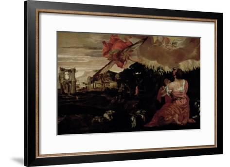 Moses and the Burning Bush-Paolo Veronese-Framed Art Print