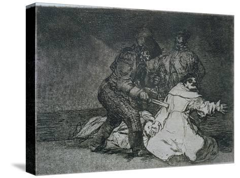 "This is Bad, Plate 46 of ""The Disasters of War,"" 1810-14, Published 1863-Francisco de Goya-Stretched Canvas Print"