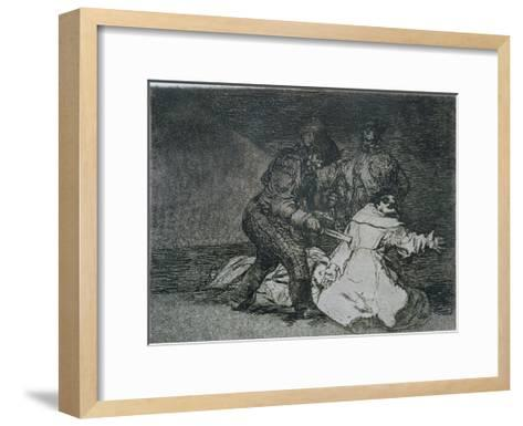 "This is Bad, Plate 46 of ""The Disasters of War,"" 1810-14, Published 1863-Francisco de Goya-Framed Art Print"
