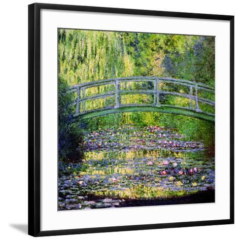 The Waterlily Pond with the Japanese Bridge, 1899-Claude Monet-Framed Art Print
