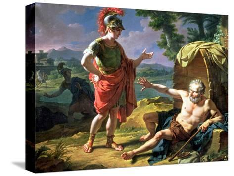 Alexander and Diogenes, 1818-Nicolas Andre Monsiau-Stretched Canvas Print