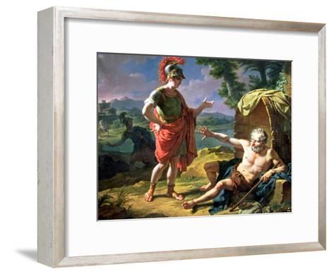 Alexander and Diogenes, 1818-Nicolas Andre Monsiau-Framed Art Print