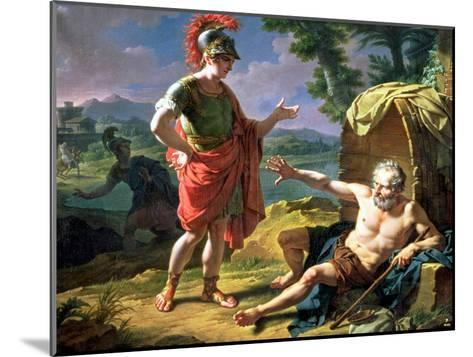 Alexander and Diogenes, 1818-Nicolas Andre Monsiau-Mounted Giclee Print
